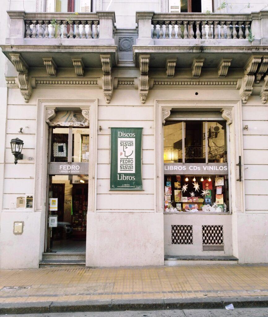 Fedro Libros bookshop in San Telmo